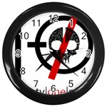 Twenty One Pilots Skull Wall Clocks (Black) Front