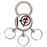 Twenty One Pilots Skull 3-Ring Key Chains Front