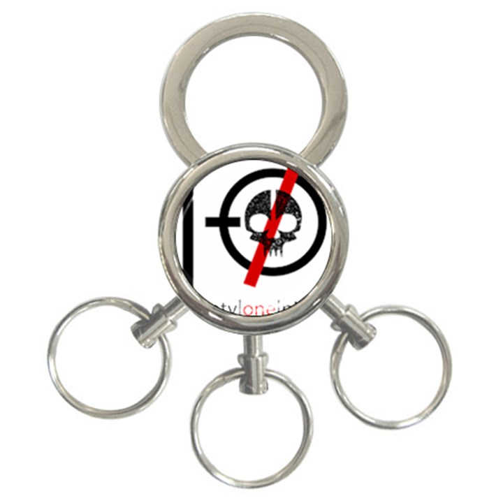 Twenty One Pilots Skull 3-Ring Key Chains