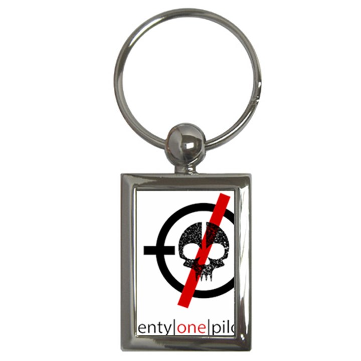 Twenty One Pilots Skull Key Chains (Rectangle)