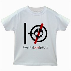 Twenty One Pilots Skull Kids White T-Shirts