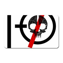 Twenty One Pilots Skull Magnet (Rectangular)