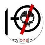 Twenty One Pilots Skull Magnet 5  (Round) Front