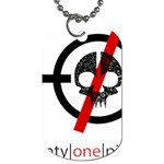 Twenty One Pilots Skull Dog Tag (One Side) Front
