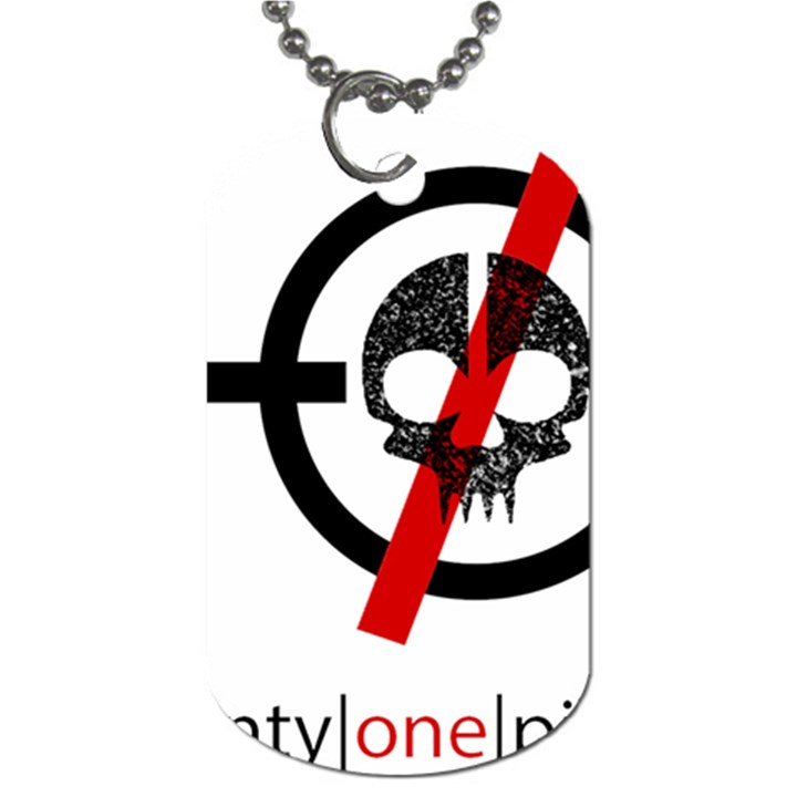 Twenty One Pilots Skull Dog Tag (One Side)