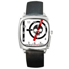 Twenty One Pilots Skull Square Metal Watch