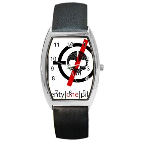 Twenty One Pilots Skull Barrel Style Metal Watch