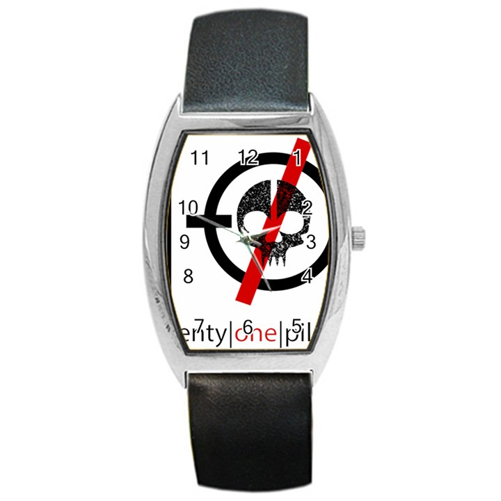 Twenty One Pilots Skull Barrel Style Metal Watch