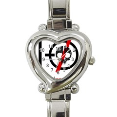 Twenty One Pilots Skull Heart Italian Charm Watch