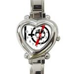 Twenty One Pilots Skull Heart Italian Charm Watch Front