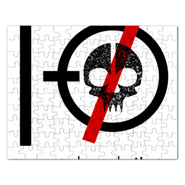 Twenty One Pilots Skull Rectangular Jigsaw Puzzl