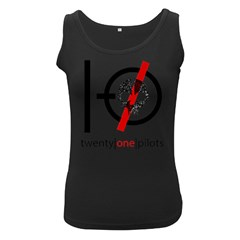 Twenty One Pilots Skull Women s Black Tank Top