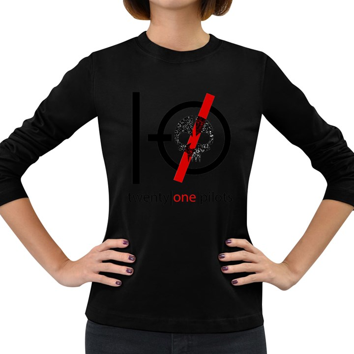 Twenty One Pilots Skull Women s Long Sleeve Dark T-Shirts