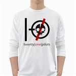 Twenty One Pilots Skull White Long Sleeve T-Shirts Front