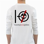 Twenty One Pilots Skull White Long Sleeve T-Shirts Back
