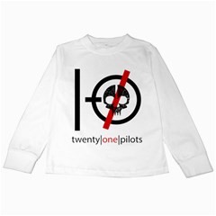 Twenty One Pilots Skull Kids Long Sleeve T Shirts