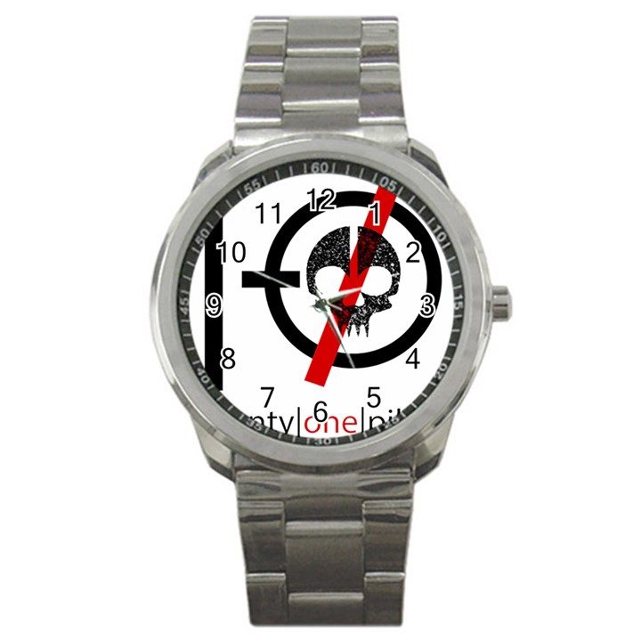 Twenty One Pilots Skull Sport Metal Watch