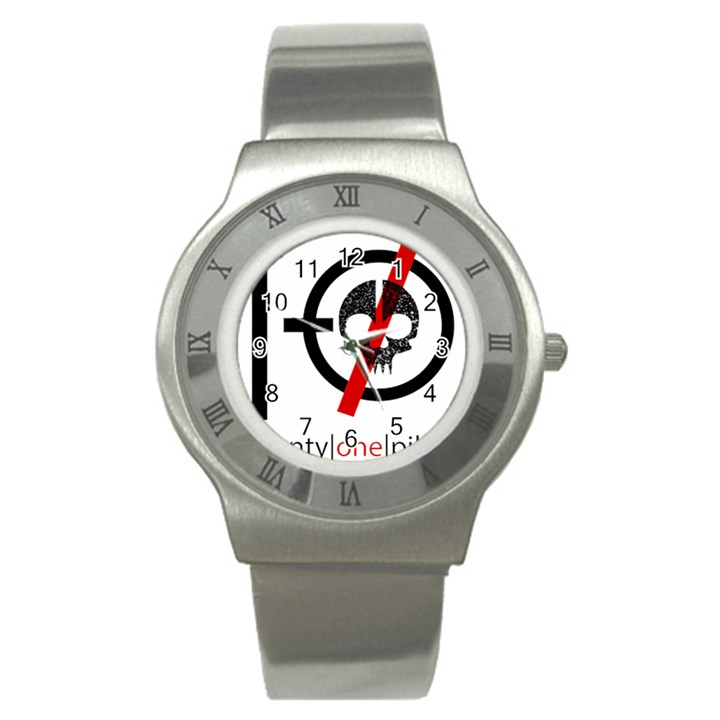 Twenty One Pilots Skull Stainless Steel Watch