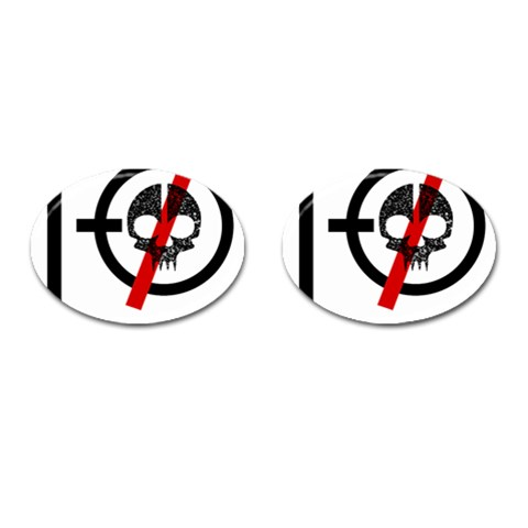 Twenty One Pilots Skull Cufflinks (Oval)