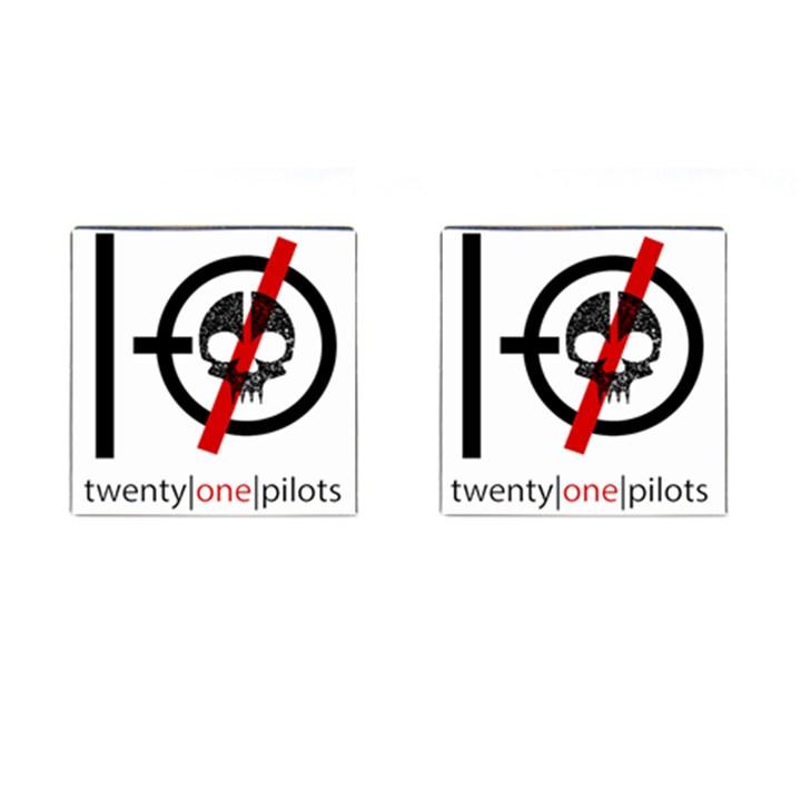 Twenty One Pilots Skull Cufflinks (Square)
