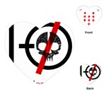 Twenty One Pilots Skull Playing Cards (Heart)  Front