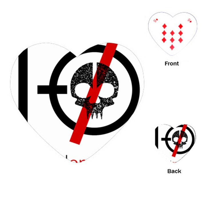 Twenty One Pilots Skull Playing Cards (Heart)