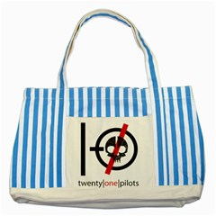 Twenty One Pilots Skull Striped Blue Tote Bag