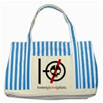 Twenty One Pilots Skull Striped Blue Tote Bag Front