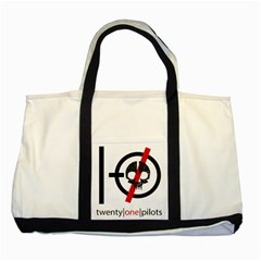 Twenty One Pilots Skull Two Tone Tote Bag