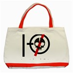 Twenty One Pilots Skull Classic Tote Bag (Red) Front