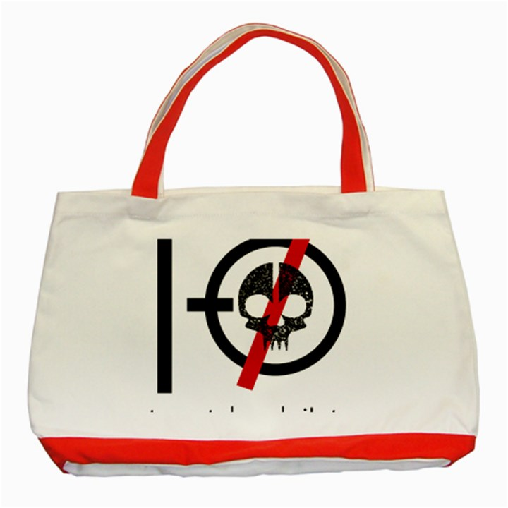 Twenty One Pilots Skull Classic Tote Bag (Red)