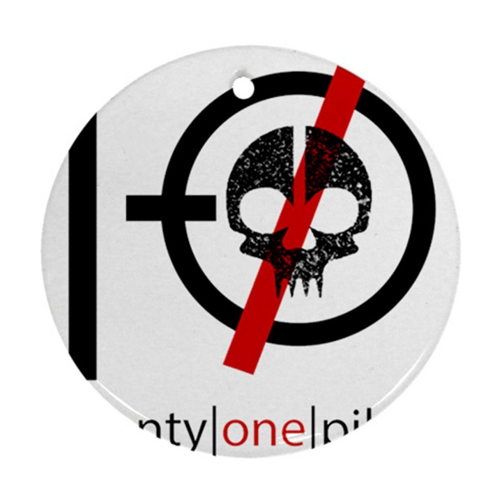 Twenty One Pilots Skull Round Ornament (Two Sides)