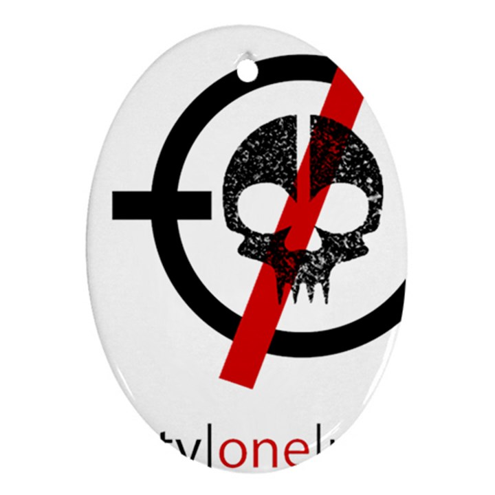 Twenty One Pilots Skull Oval Ornament (Two Sides)