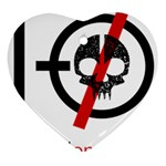 Twenty One Pilots Skull Heart Ornament (2 Sides) Front