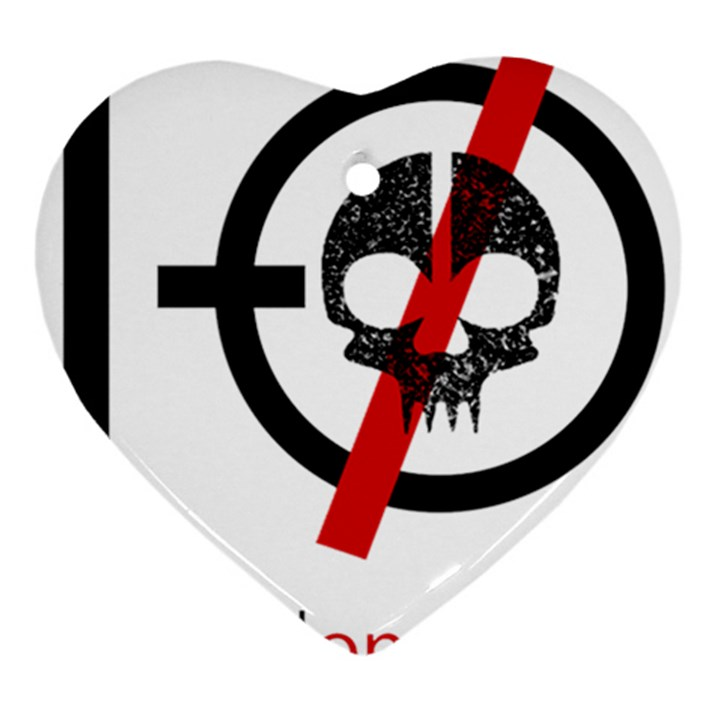 Twenty One Pilots Skull Heart Ornament (2 Sides)