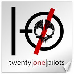 Twenty One Pilots Skull Canvas 12  x 12