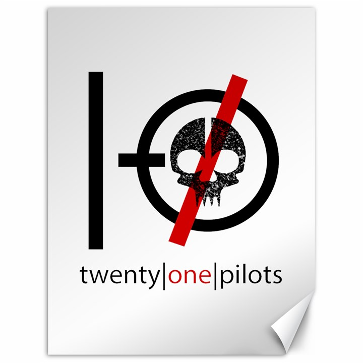 Twenty One Pilots Skull Canvas 12  x 16