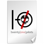 Twenty One Pilots Skull Canvas 12  x 18   18 x12 Canvas - 1