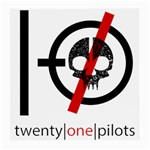 Twenty One Pilots Skull Medium Glasses Cloth Front