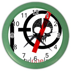 Twenty One Pilots Skull Color Wall Clocks