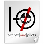 Twenty One Pilots Skull Canvas 11  x 14   14 x11 Canvas - 1