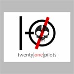 Twenty One Pilots Skull Canvas 16  x 12  16  x 12  x 0.875  Stretched Canvas