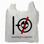 Twenty One Pilots Skull Recycle Bag (Two Side)  Back