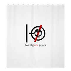 Twenty One Pilots Skull Shower Curtain 66  x 72  (Large)