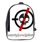 Twenty One Pilots Skull School Bags(Large)  Front