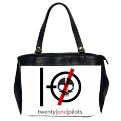 Twenty One Pilots Skull Office Handbags (2 Sides)