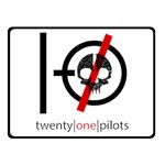 Twenty One Pilots Skull Fleece Blanket (Small) 50 x40 Blanket Front