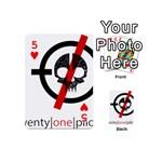 Twenty One Pilots Skull Playing Cards 54 (Mini)  Front - Heart5