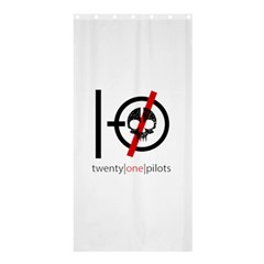 Twenty One Pilots Skull Shower Curtain 36  x 72  (Stall)