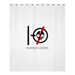 Twenty One Pilots Skull Shower Curtain 60  x 72  (Medium)